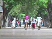 Stock Video Footage of prado people walking 2