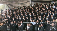 Stock Video Footage of Hasidic celebration of Lag B'omer in Meron