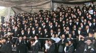 Hasidic celebration of Lag B'omer in Meron Stock Footage