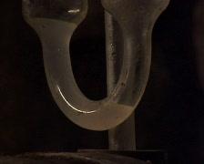 Airlock on a wine barrel Stock Footage