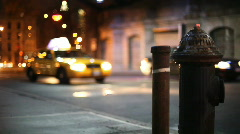 NYC busy corner with Hydrant #2 - stock footage