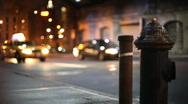 Stock Video Footage of NYC busy corner with Hydrant #2