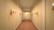 Hotel Corridor 2 Stock Footage