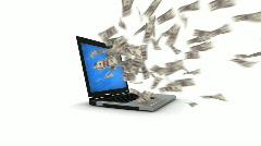 Internet money - stock footage