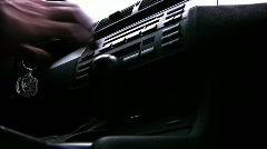 Changing gears in Automatic Transmission Stock Footage