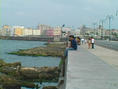 Stock Video Footage of sitting on the malecon