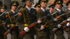Victory Day Parade 2009 35 - stock footage