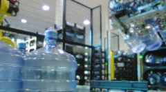 Bottled water factory 001 - stock footage