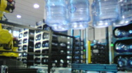 Stock Video Footage of Bottled water factory 001
