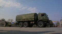 Journey of military vehicles Stock Footage