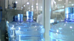 Bottled water factory 009 - stock footage