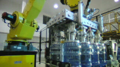 Bottled water factory 005 - stock footage