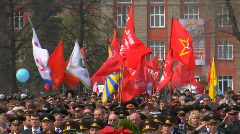Flags USSR Stock Footage