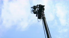 Videocamera on the cam crane Stock Footage