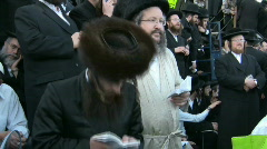 Hasidic celebration of Lag B'omer in Meron Stock Footage