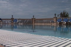Hotel terrasse with swimming pool Stock Footage
