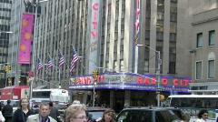 Radio City Music Hall Stock Footage