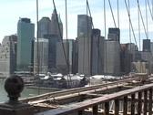 View from Brooklyn Bridge  Stock Footage