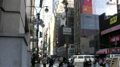 Midtown Traffic Stock Footage