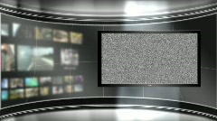 HD Virtual TV Studio Set with main monitor - stock footage