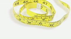 Tape Measure Rotating Stock Footage