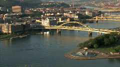 Pittsburgh 527 - Point State Park Stock Footage