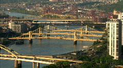 Three Sisters Bridges 524 Stock Footage