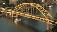 Stock Video Footage of Fort Pitt Bridge 517