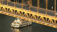 Fort Pitt Bridge 516 Stock Footage
