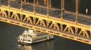 Stock Video Footage of Fort Pitt Bridge 516
