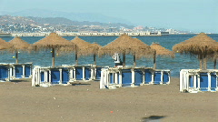 Empty beach  Stock Footage