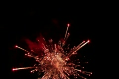 Fireworks show with sound Stock Footage
