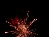 Stock Video Footage of Fireworks show with sound