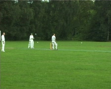 Belgian cricket match Stock Footage