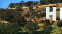 Hollywood Sign, Pan Across - stock footage
