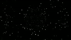 Starfield in universe and super nova Stock Footage