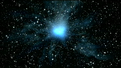 starfield in universe and super nova - stock footage