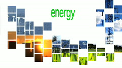 Text on energy collage  Stock Footage