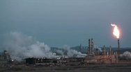 Stock Video Footage of oil refinery