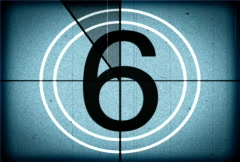 Countdown Blue Stock Footage