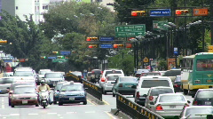 Traffic in the Avenue HD Stock Footage