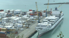 Container loading at Port Stock Footage