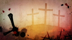 Easter Grunge Motion Background - stock footage