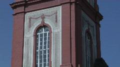 Castle Burchsal - Churchtower Stock Footage