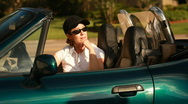 Couple in Sports Car Stock Footage