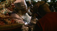 Stock Video Footage of Rabbi blessing at the Celebration of Rabbi Meir Baal HaNess, Tiberias, Israel