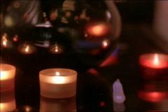 Candles & Vase Pan Stock Footage