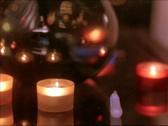 Candles & Vase Pan Stock Footage