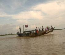 Vietnamese Water Bus Stock Footage