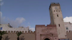 Essaouira fort with clouds Stock Footage